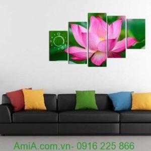 Tranh hoa sen đẹp mang phong cách hiện đại