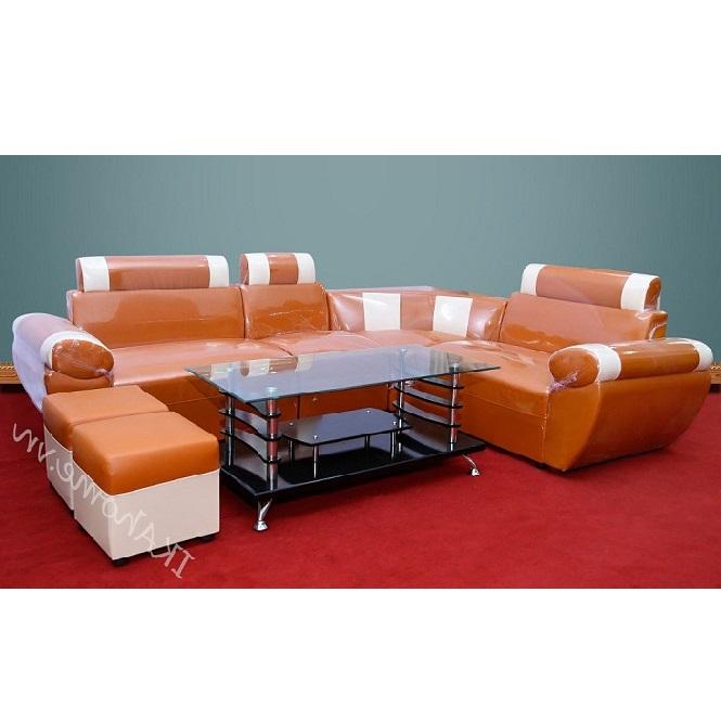 Bộ sofa cho phòng khách màu cam đất