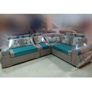 Mẫu sofa nỉ màu xanh dương phong cách hiện đại