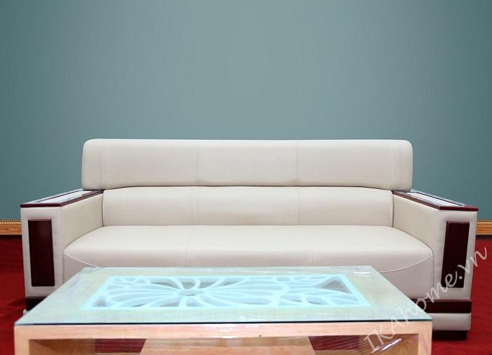 Sofa da phong khach tinh te sang trong