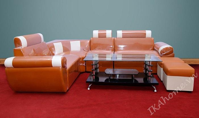 mẫu sofa cho phòng khách màu cam nổi bật