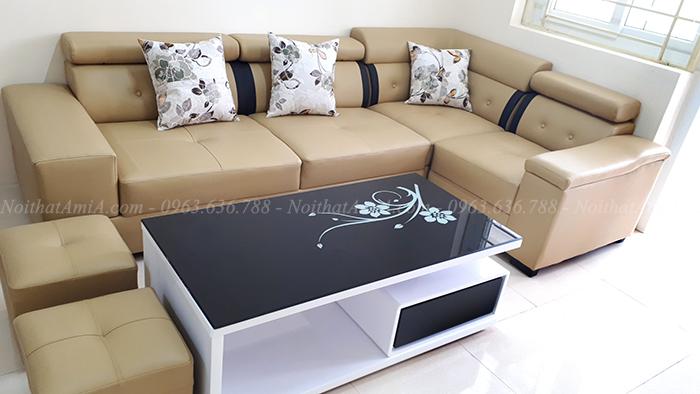 Hình ảnh Ghế sofa góc đẹp hiện đại AmiA SFD041 làm theo yêu cầu