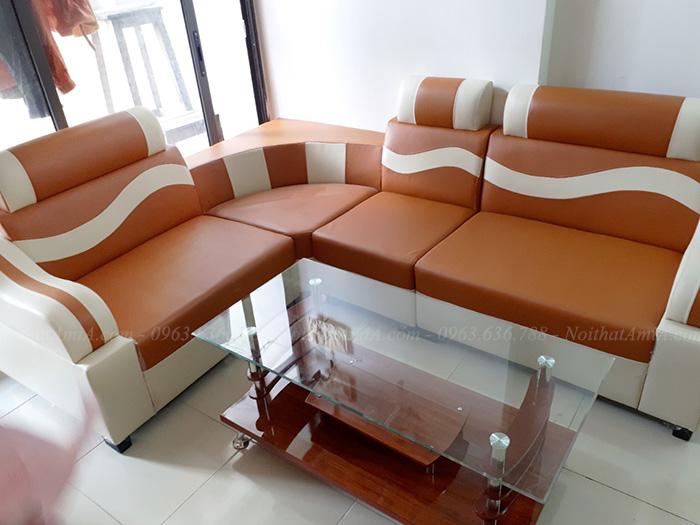 Hình ảnh Mẫu ghế sofa rẻ đẹp tại Hà Nội bài trí trong phòng khách nhà khách