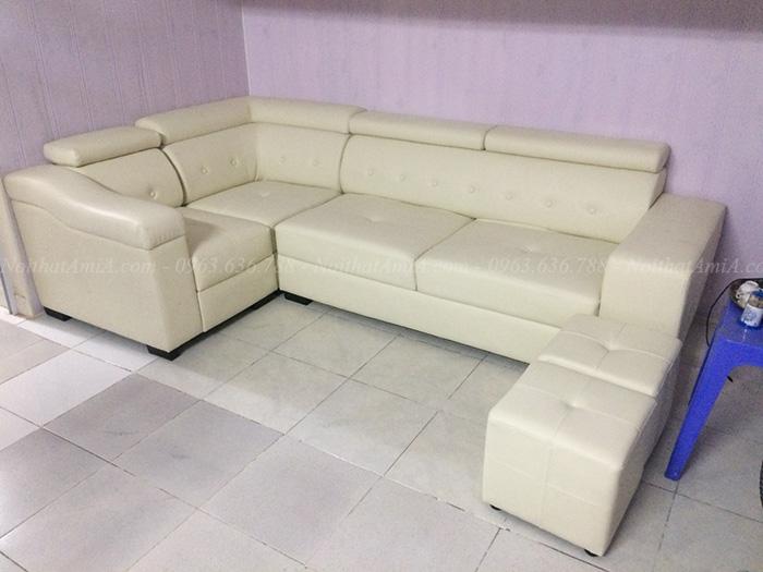 Hình ảnh bộ ghế sofa da góc đẹp hiện đại