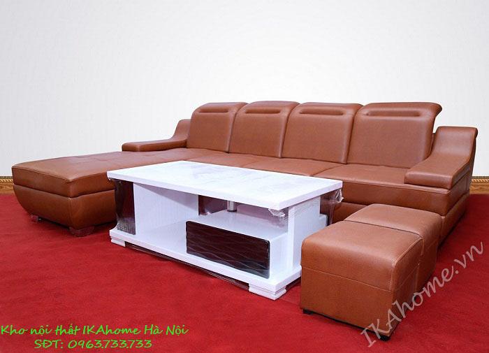 Mẫu sofa da cao cấp hiện đại thiết kế tinh tế, sang trọng