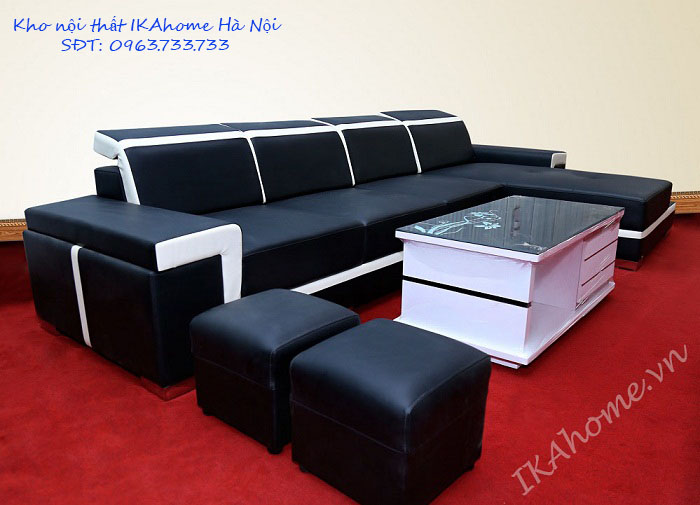 Chọn sofa nguyên bộ cho phòng khách hiện đại