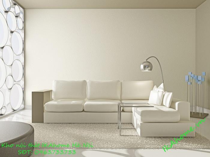 Mẫu sofa màu kem nhẹ nhàng tinh tế cho phòng khách