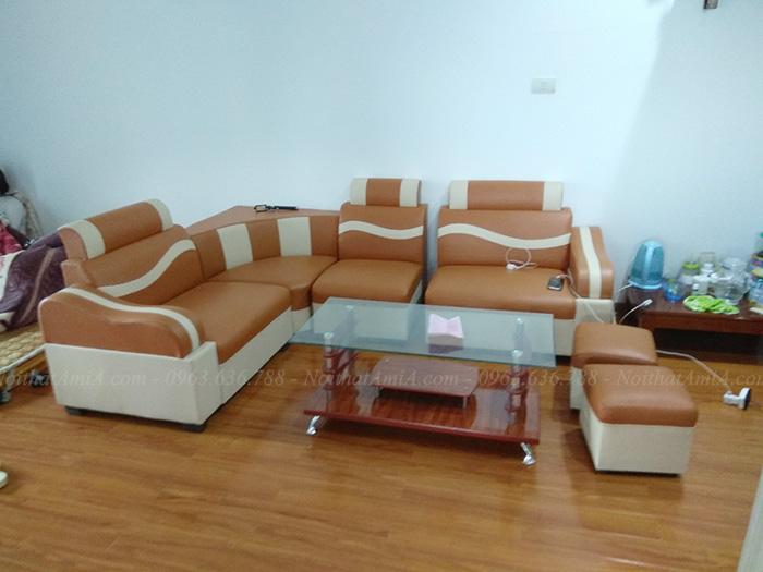 Hình ảnh Sofa đẹp giá rẻ tại Hà Nội chụp tại nhà khách hàng