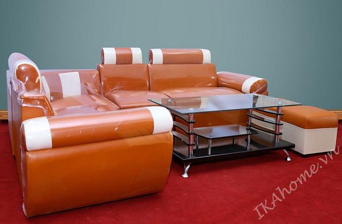 bộ sofa cho phòng khách màu cam