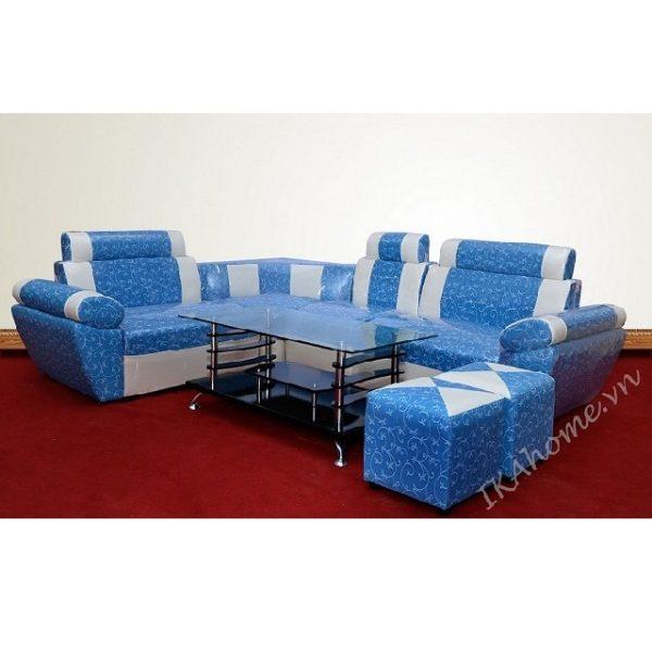 Bộ sofa góc họa tiết hoa lá vector;