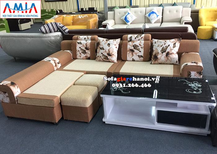 Hình ảnh Mẫu sofa nỉ giá rẻ phòng khách chung cư hiện đại