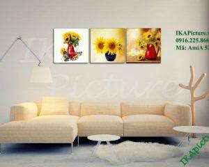 Tranh trang trí hoa hướng dương treo phòng khách