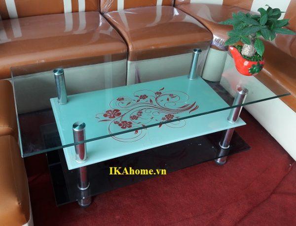 Bàn tra sofa kính 3 tầng giá rẻ 114BTR