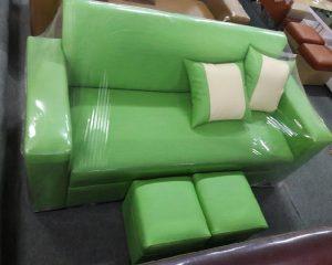 Sofa văng mầu xanh cốm cỡ nhỏ