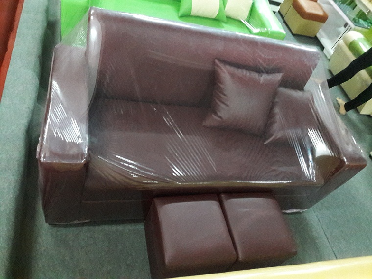 Sofa văng nhỏ giá rẻ mầu nâu đậm