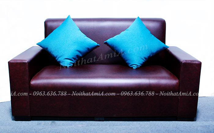Hình ảnh mẫu ghế sofa văng nhỏ đẹp với chất liệu da hiện đại