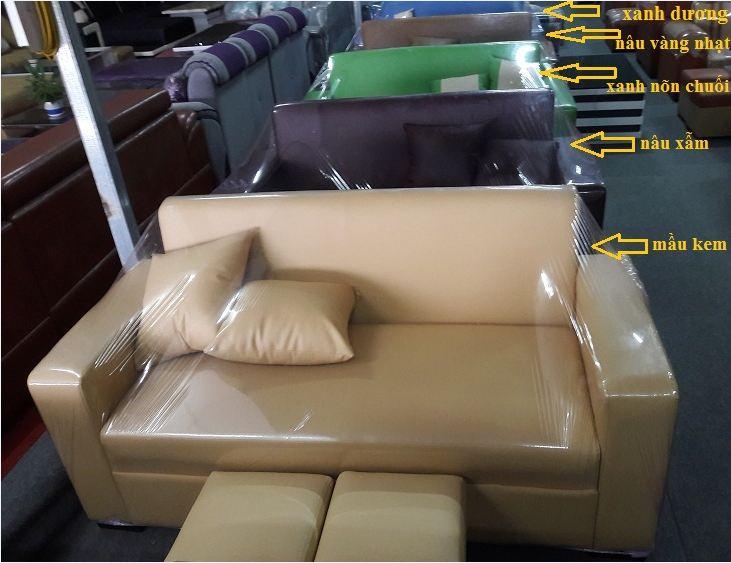 Hình ảnh màu sắc bộ ghế sofa văng mini giá rẻ ở Hà Nội dưới 3 triệu đồng tại IKAhome Hà Nội