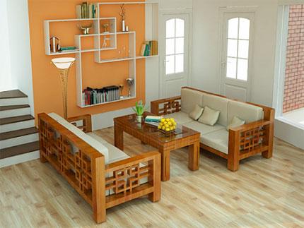 9.Sofa gỗ