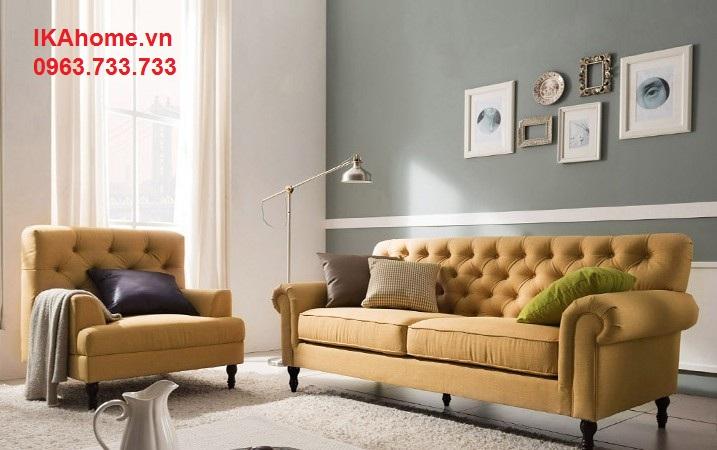 Hình ảnh cho mẫu ghế sofa giá rẻ Hà Nội với kích thước nhỏ cho căn hộ chung cư