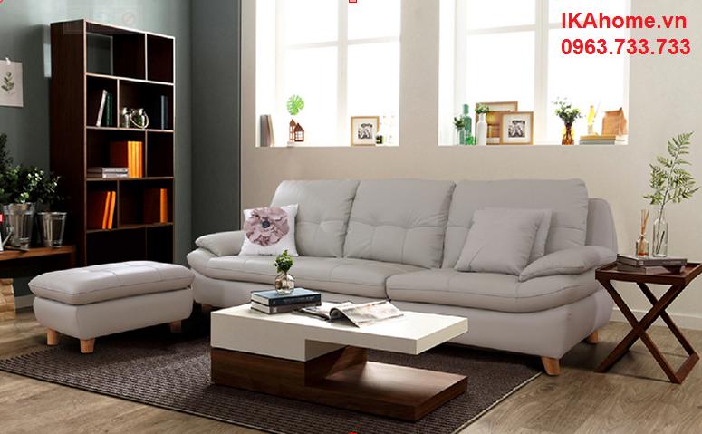 Hình ảnh cho mẫu sofa giá rẻ tại Hà Nội với thiết kế nhỏ gọn cho căn phòng khách nhỏ