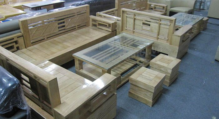 Hình ảnh cho sofa gỗ góc đẹp hiện đại và sang trọng cho không gian phòng khách gia đình Việt