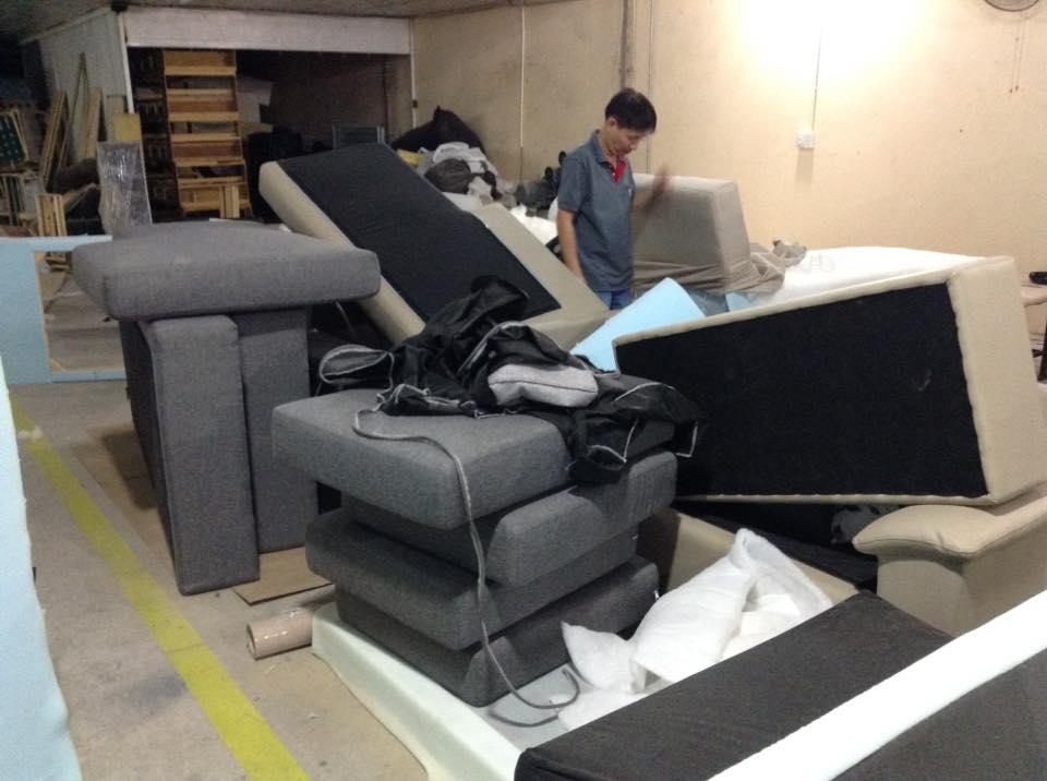 Hình ảnh xưởng đóng sofa giá rẻ tại Hà Nội uy tín, chất lượng