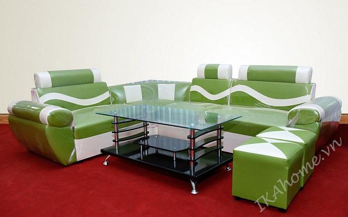 Hình ảnh cho mẫu sofa da giá cực rẻ cho phòng khách gia đình