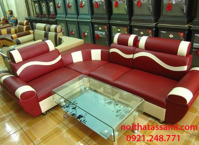 Hình ảnh mẫu sofa góc da giá rẻ tại Hà Nội với phong cách thiết kế hiện đại