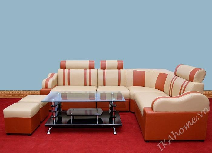 Hình ảnh cho mẫu sofa da giá rẻ tại Cầu Giấy thật hiện đại và sang trọng