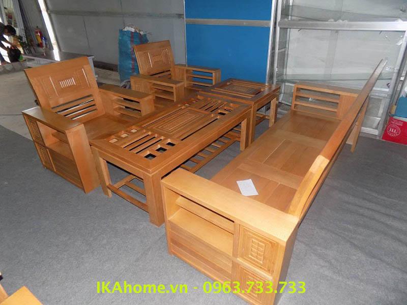 Hình ảnh cho mẫu sofa gỗ giá rẻ tại Cầu Giấy, Hà Nội với thiết kế hiện đại và trẻ trung