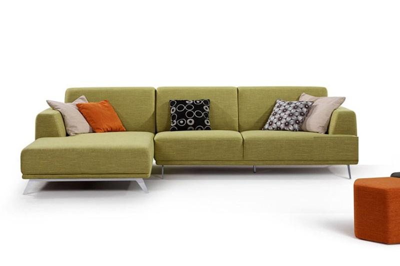 Hình ảnh bộ sofa nỉ giá rẻ Hà Nội với thiết kế hiện đại và màu sắc trẻ trung
