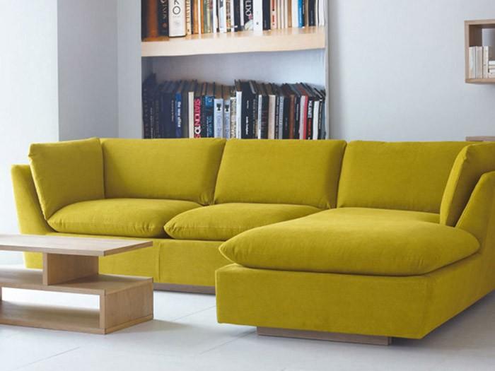 Hình ảnh mẫu sofa nỉ giá rẻ Hà Nội với thiết kế hiện đại cùng gam màu năng động, trẻ trung