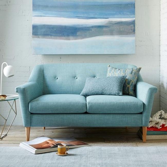 Hình ảnh sofa văng mini giá rẻ Hà Nội trang trí cửa hàng, quán coffee, bar