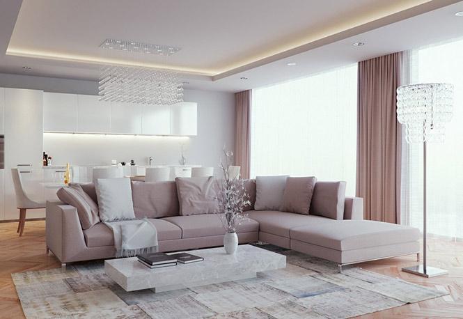 Hình ảnh mẫu sofa giá rẻ tại Hà Nội được bài trí trong không gian phòng khách hiện đại