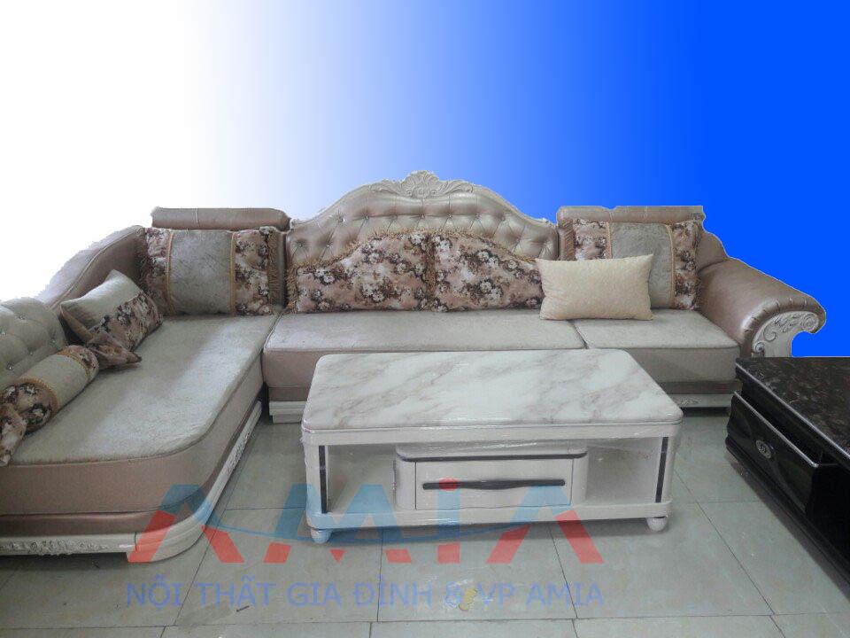 Hình ảnh cho mẫu bàn trà sofa kết hợp bộ ghế sofa phòng khách đẹp mê ly