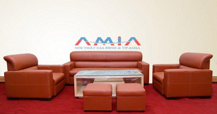 Hình ảnh cho mẫu sofa giá rẻ dưới 5 triệu đồng một bộ với gam màu da bò hiện đại