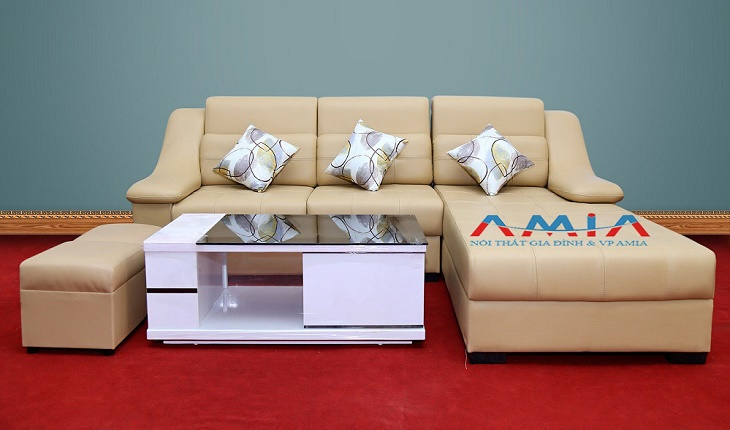 Hình ảnh cho mẫu sofa văng da đẹp hiện đại tại Nội thất AmiA