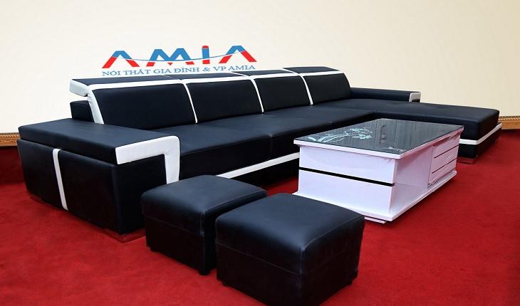 Hình ảnh cho mẫu sofa da cao cấp tại Nội thất AmiA