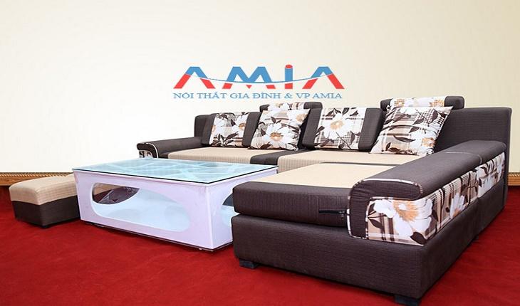 Hình ảnh cho mẫu sofa góc nỉ đẹp giá rẻ tại Nội thất AmiA