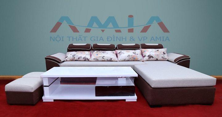 Hình ảnh cho mẫu sofa nỉ giá rẻ tại Hà Nội với thiết kế hiện đại