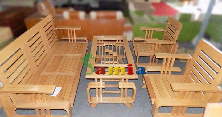 Hình ảnh cho bộ bàn ghế gỗ phòng khách giá rẻ vừa hiện đại vừa giản dị