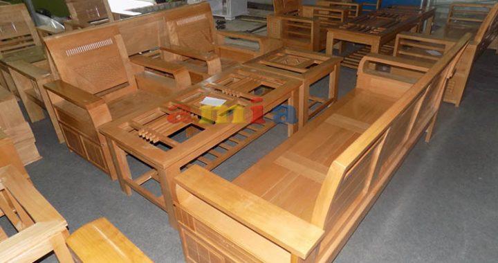 Hình ảnh cho mẫu bàn ghế gỗ phòng khách giá rẻ cho không gian phòng khách hiện đại