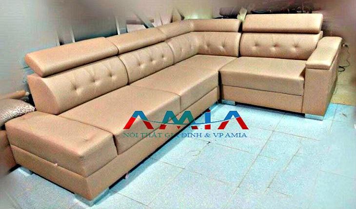 Hình ảnh cho mẫu sofa góc da tại Hà Nội do Nội thất AmiA cung cấp