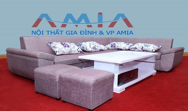 Hình ảnh cho giá bán sofa nỉ bao nhiêu tiền một bộ với phong cách thiết kế hiện đại
