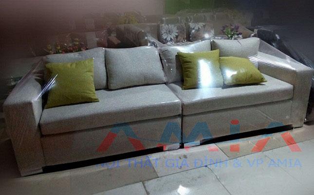 Hình ảnh cho mẫu sofa nỉ phòng khách đơn giản và đầy ấn tượng