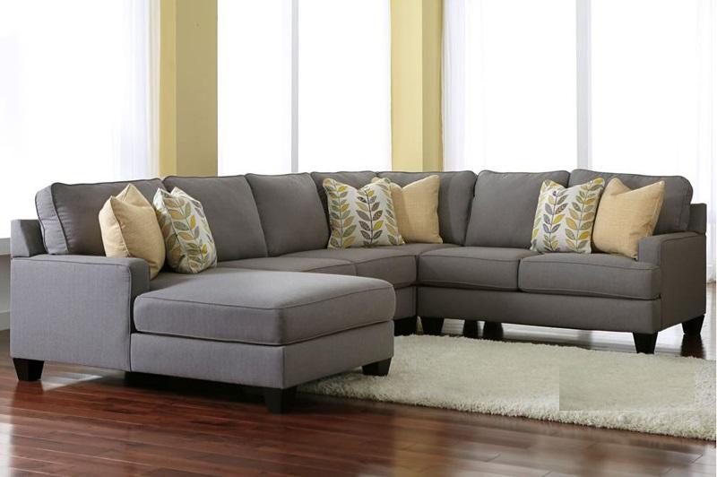 Hình ảnh cho mẫu sofa góc nỉ đẹp giá rẻ cho không gian phòng khách gia đình