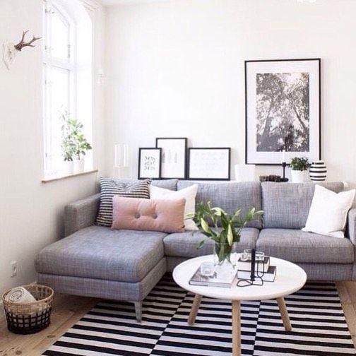 Hình ảnh cho mẫu sofa phòng khách nhỏ với gam màu xám nhẹ nhàng, trẻ trung