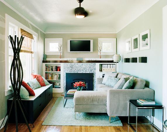 Hình ảnh cho bộ sofa phòng khách nhỏ giá rẻ được bài trí trong không gian phòng khách chung cư