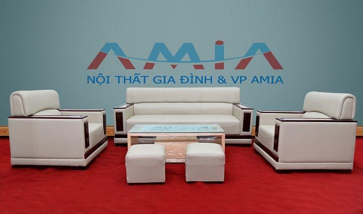 Hình ảnh cho mẫu sofa phòng làm việc giá rẻ vừa đẹp vừa hiện đại với chất liệu da