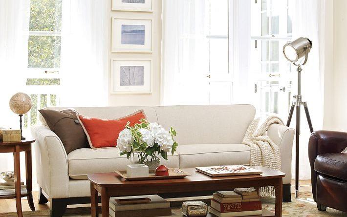 Hình ảnh cho bộ sofa phòng khách nhỏ được bài trí trong không gian căn phòng hiện đại
